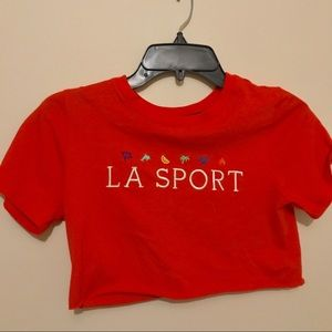 Tops - LA Sport Embroidered Crop Top